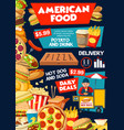 fast food from america poster for delivery service vector image vector image