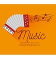 festival music accordion notes icon design vector image vector image