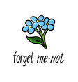flower of forget-me-not vector image vector image
