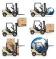 Forklifts vector image vector image