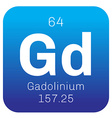Gadolinium chemical element vector image vector image