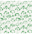 ginkgo leaves seamless pattern vector image vector image