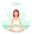 girl enjoying yoga cartoon character vector image vector image