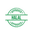 halal label approved grunge round vintage rubber vector image