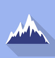 ice mountain peak icon flat style vector image vector image