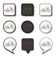 icon for set symbols retro bicycle vector image vector image