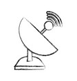 isolated web antenna vector image vector image
