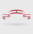 Lebanese flag background vector image vector image
