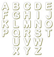 lines alphabet characters vector image vector image