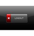 Logout Button vector image vector image