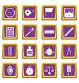 measure precision icons set purple vector image vector image