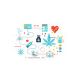 medical cannabis concept vector image