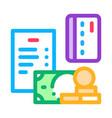 money coin card icon outline vector image vector image