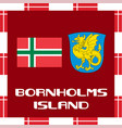 national ensigns of denmark - bornholms island vector image