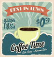 Old vintage coffee poster vector image