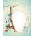 paris blue background vector image vector image