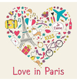 Paris card vector image vector image