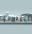 passengers waiting for a taxi vector image vector image