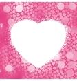 pastel heart frame vector image