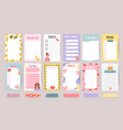 planner list notes weekly to do lists and daily vector image vector image
