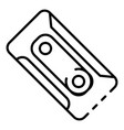 plastic cassette icon outline style vector image vector image