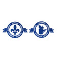 quebec canadian province badge vector image vector image