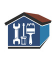 repairs in the house vector image vector image