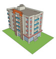 residential building on white background vector image