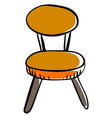 retro chair on white background vector image vector image