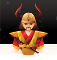 Samurai Doll vector image vector image