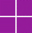 Simple purple striped pattern background set vector image vector image