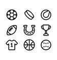 sport collection icons isolated icons on vector image