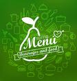 Spring menu label design lineart concept vector image vector image