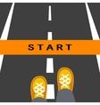 Start line road sign vector image