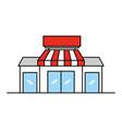 store grocery shop building exterior facade vector image