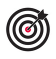 target and arrow icon darts dartboard and vector image