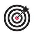 target and arrow icon darts dartboard vector image