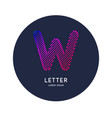 the letter w latin alphabet display vector image vector image