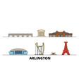 united states arlington flat landmarks vector image vector image