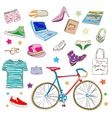 urban hipster accessories vector image vector image