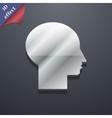 User icon symbol 3D style Trendy modern design vector image vector image