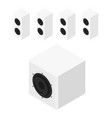white acoustic speakers loudspeakers isolated on vector image vector image