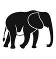 Wild elephant icon simple style vector image vector image