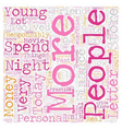 Young People And Personal Finance text background vector image vector image