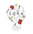 idea with envelope notebook pen and pencil vector image