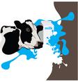 cow milk package vector image