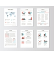 Set of templates for business brochures web pages vector image