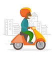 a man driving motorcycle vector image vector image