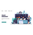 agile landing page kanban methodology software vector image