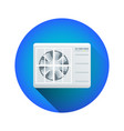 air conditioning outdoor unit vector image